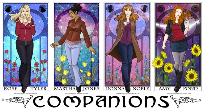 doctor_who___companions_by_strawberrygina-d3a6q8i